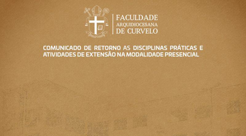 RETORNO ÀS DISCIPLINAS PRÁTICAS